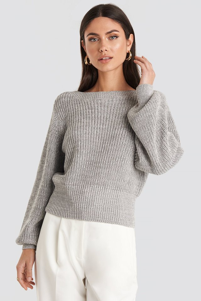 Twisted Pullover Grey
