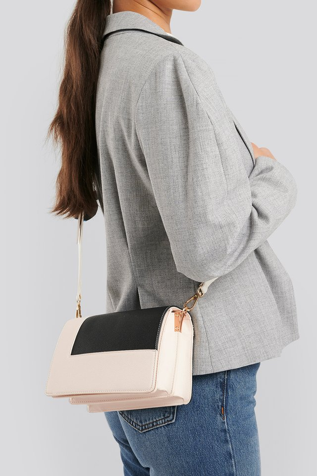 Two Toned Crossbody Bag Black/Nude