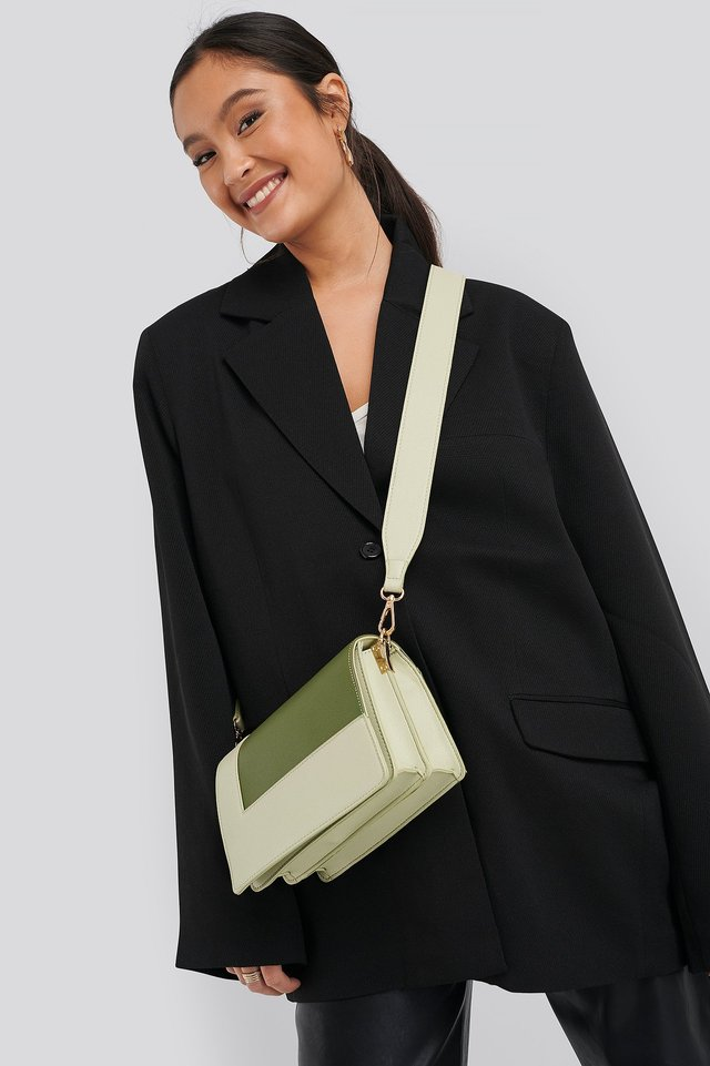 Two Toned Crossbody Bag Olive