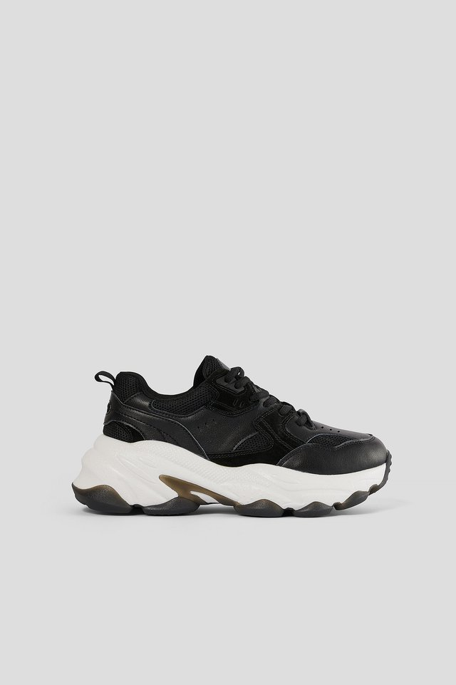 Black Bubble Sole Trainers