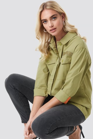 Green Utility Pocket Shirt