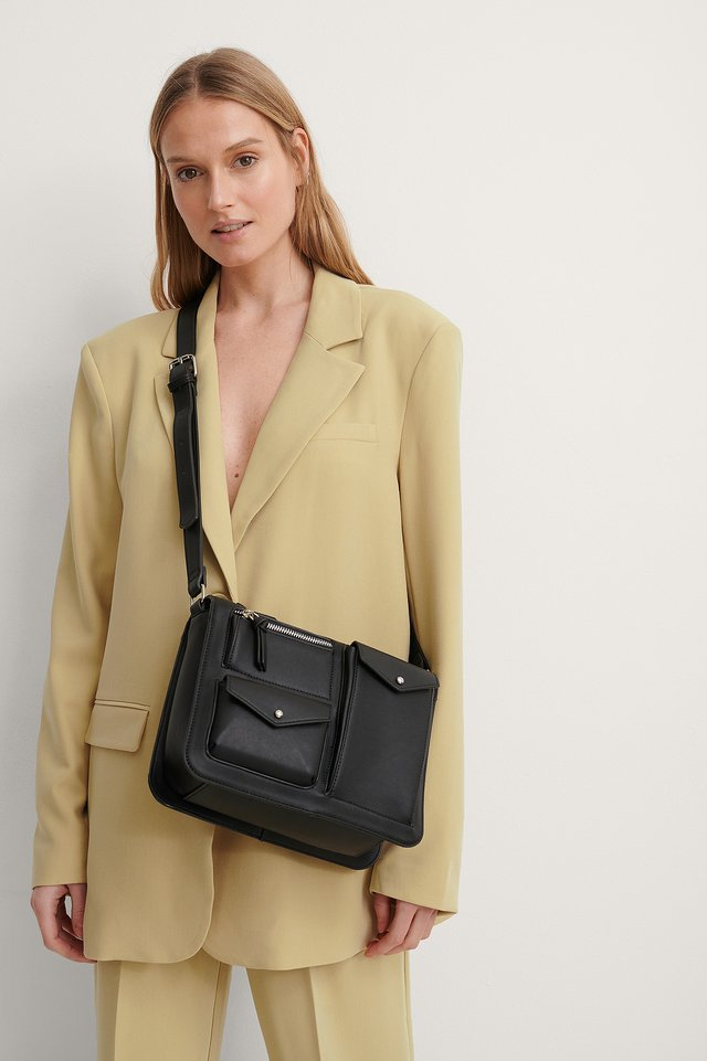 Black Utility Shoulder Bag