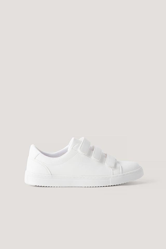 Sneakers Mit Klettverschluss White
