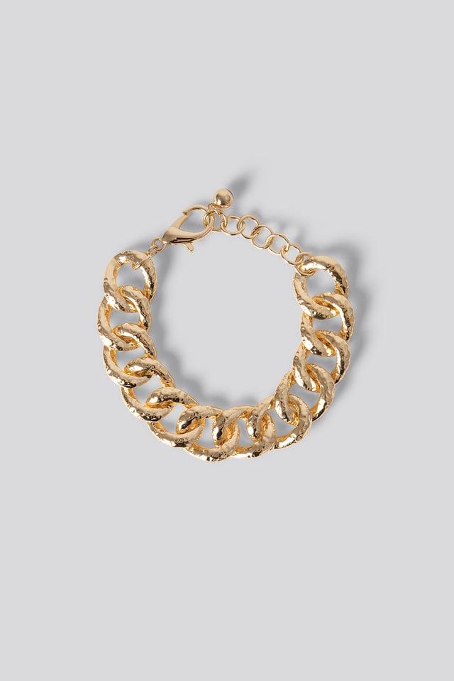 Vintage Look Chain Bracelet Gold