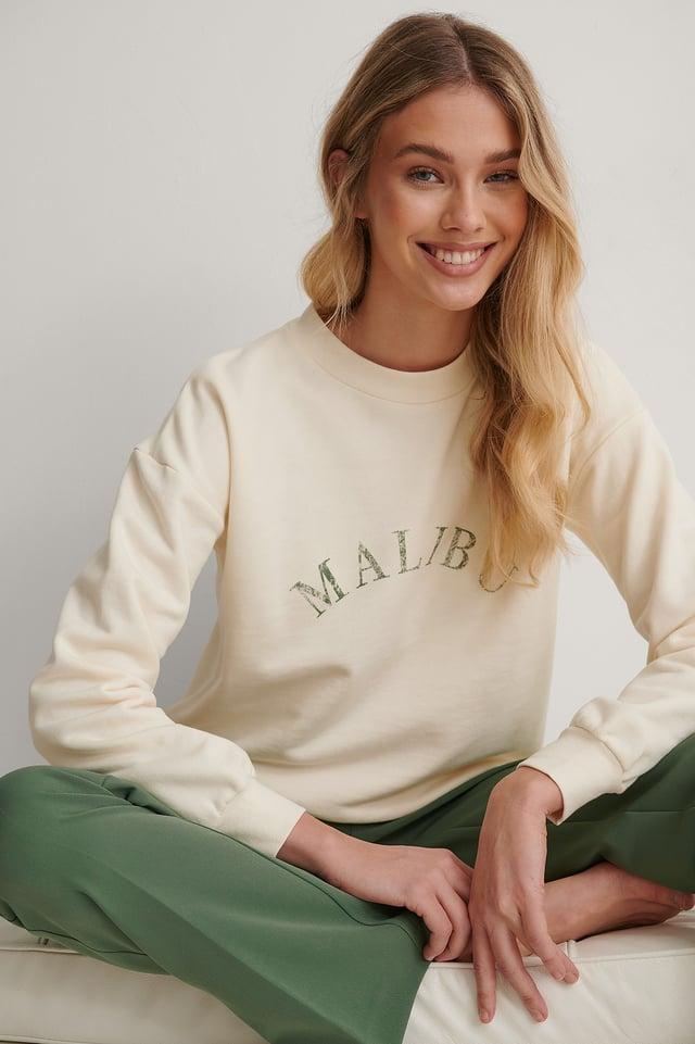 Cream Vintage Look Sweater