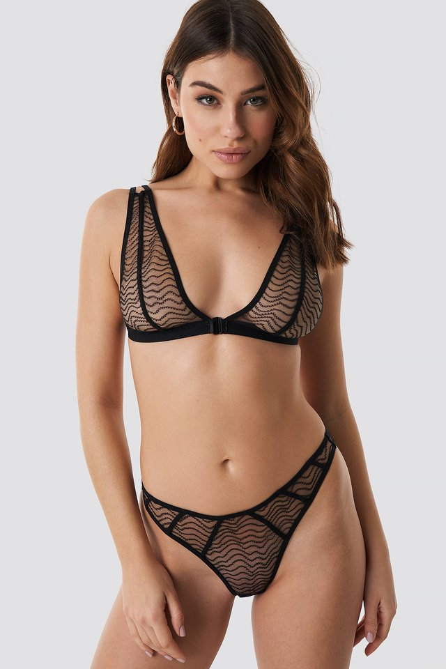 Wave Lace Panty Black