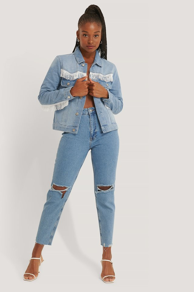 Light Blue Wash Jeansjacke