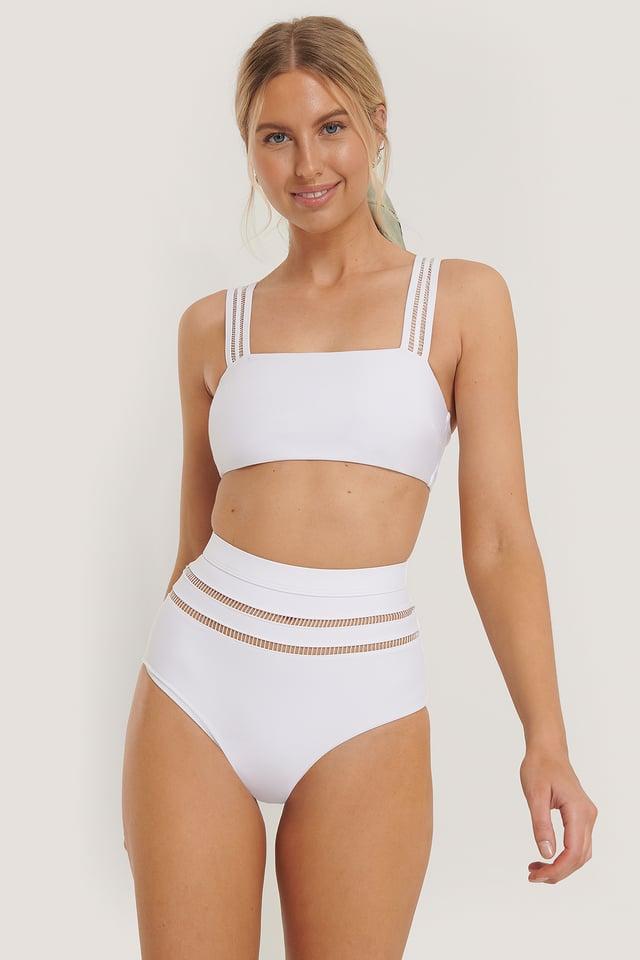White White Lines Maxi Highwaist Panty