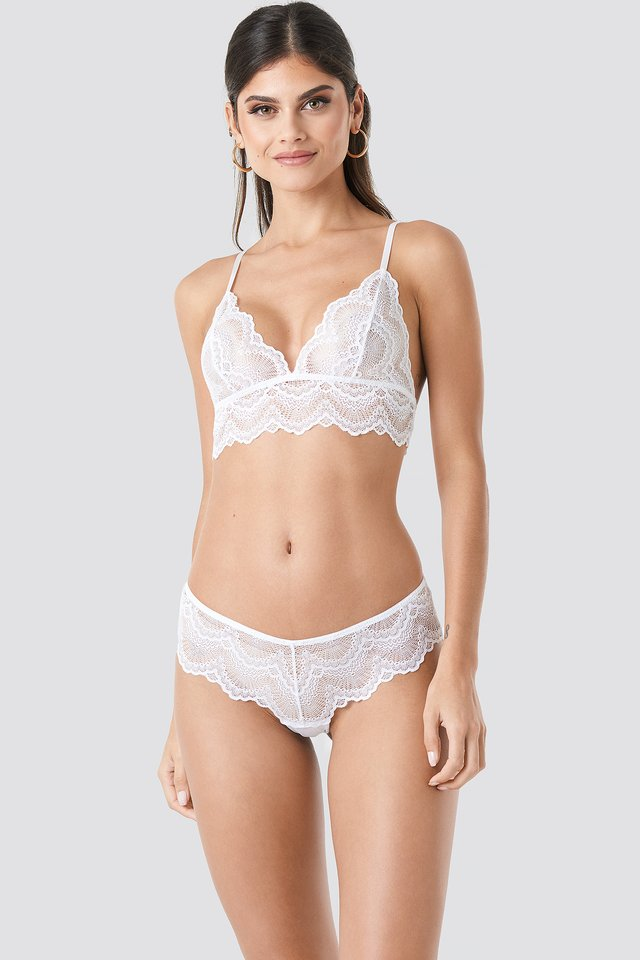 Wide Lace Hipster White