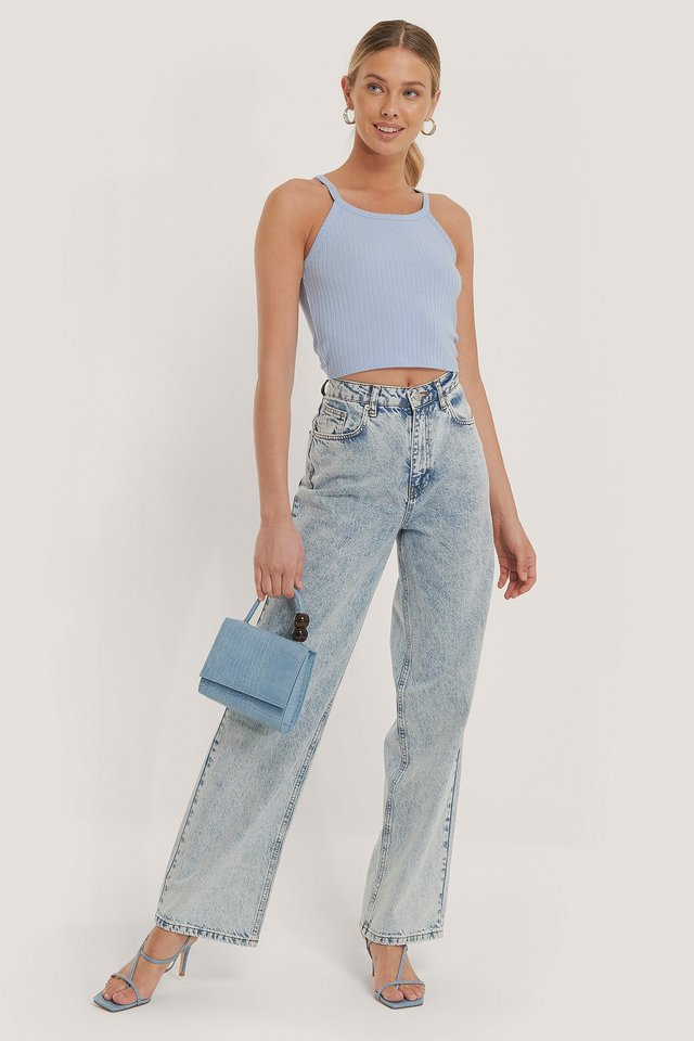Wide Leg Denim Light Blue