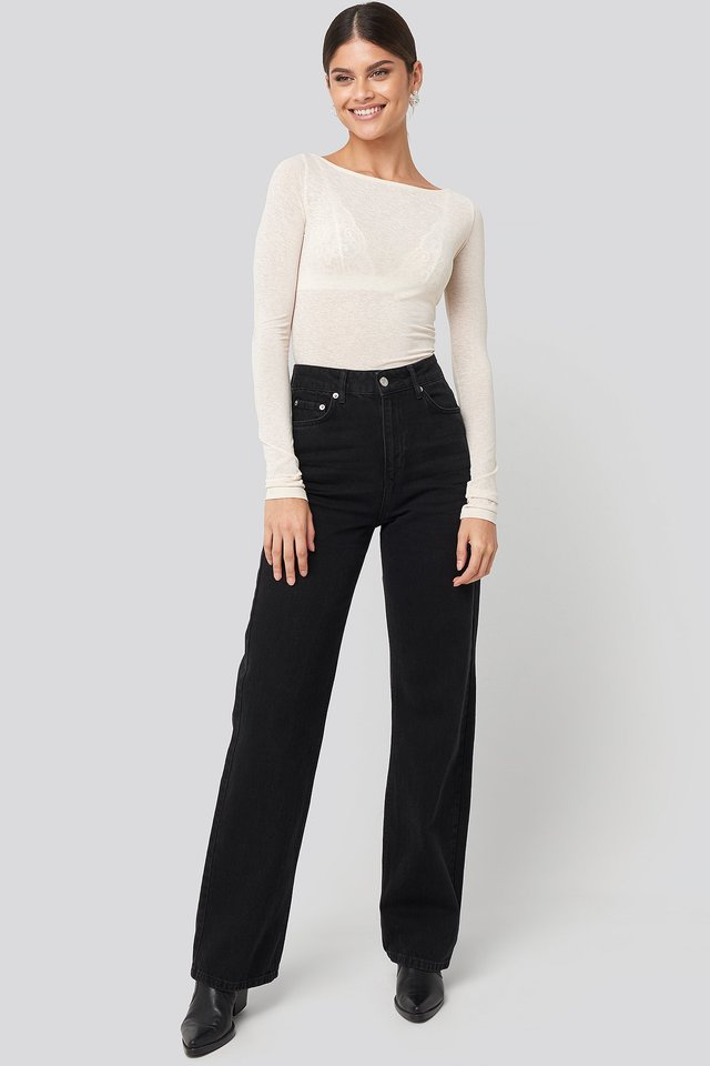 Wide Leg Highwaisted Denim NA-KD Trend