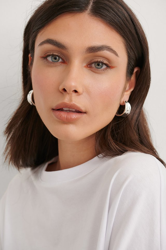 Silver Wide Recycled Hoops