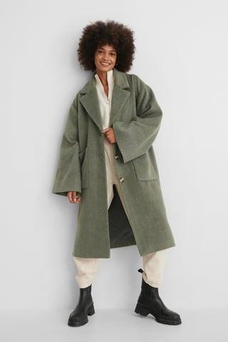 Green Długi Płaszcz