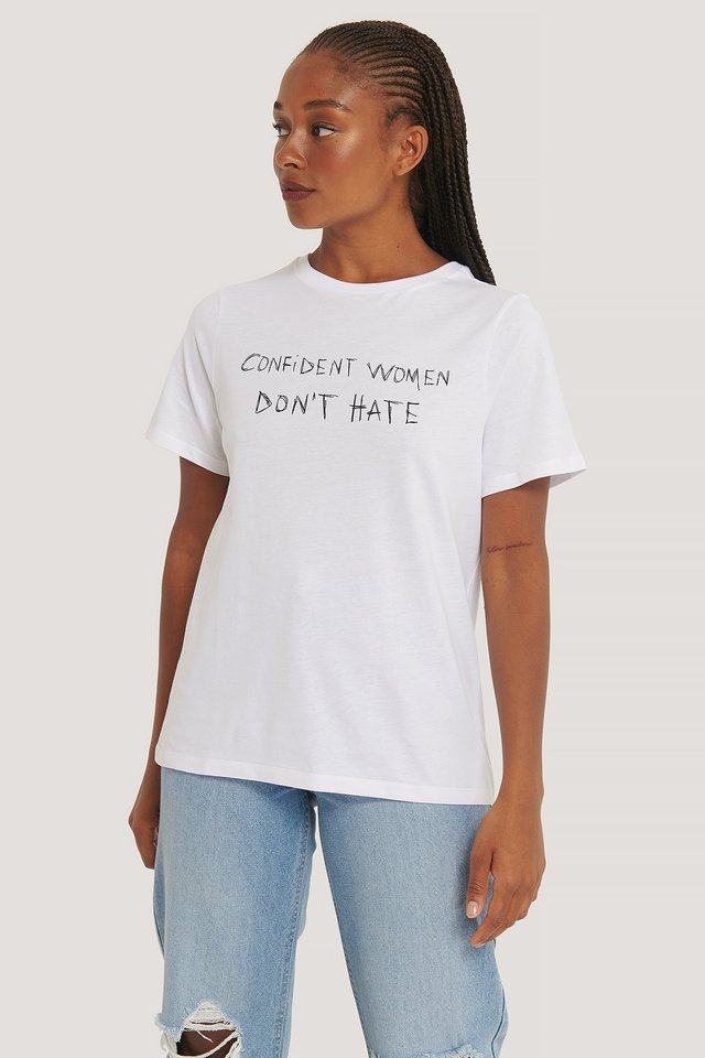Women Don't Hate Tee White