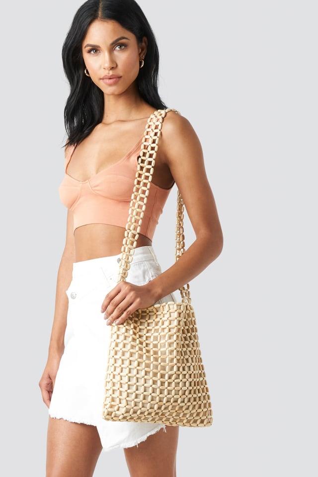 Wooden Pearl Bag Natural