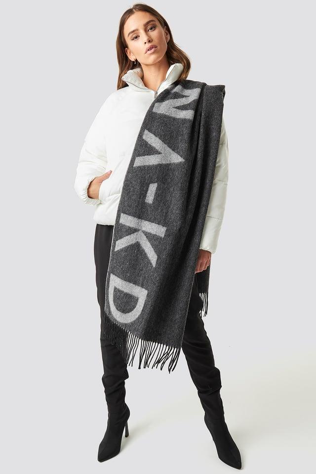 Wool Logo Scarf Grey