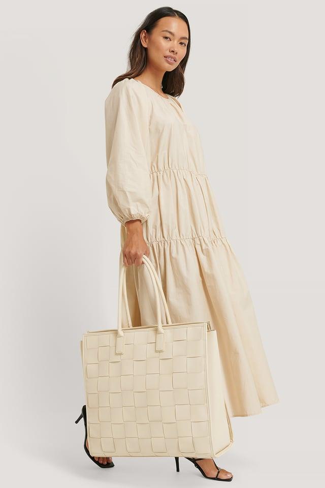 Natural Flettet Oversized Shopper