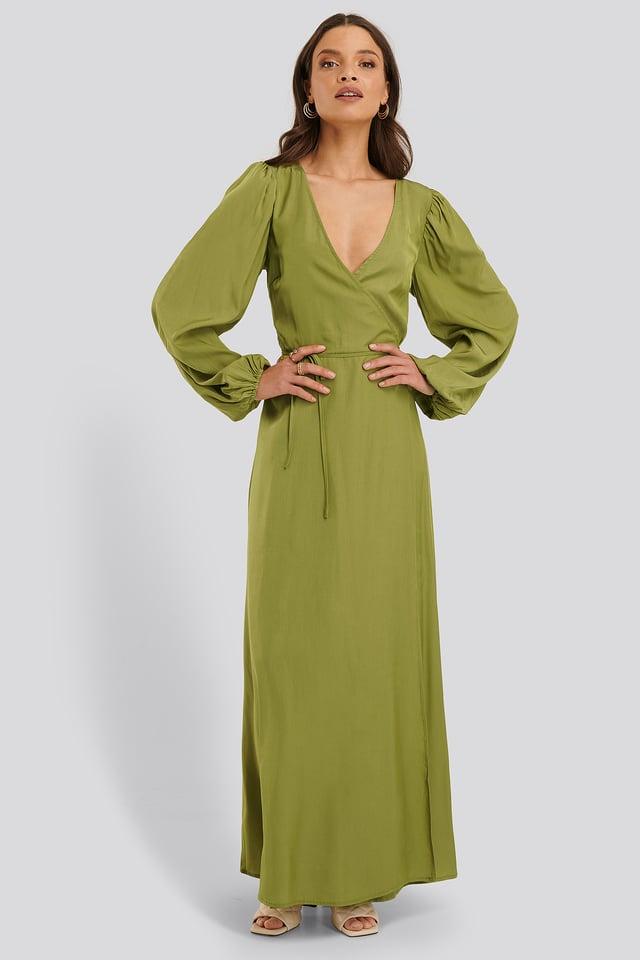 Wickelkleid Green