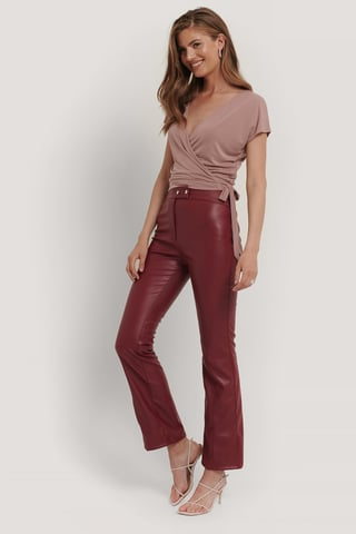 Dusty Pink Wrap-Top