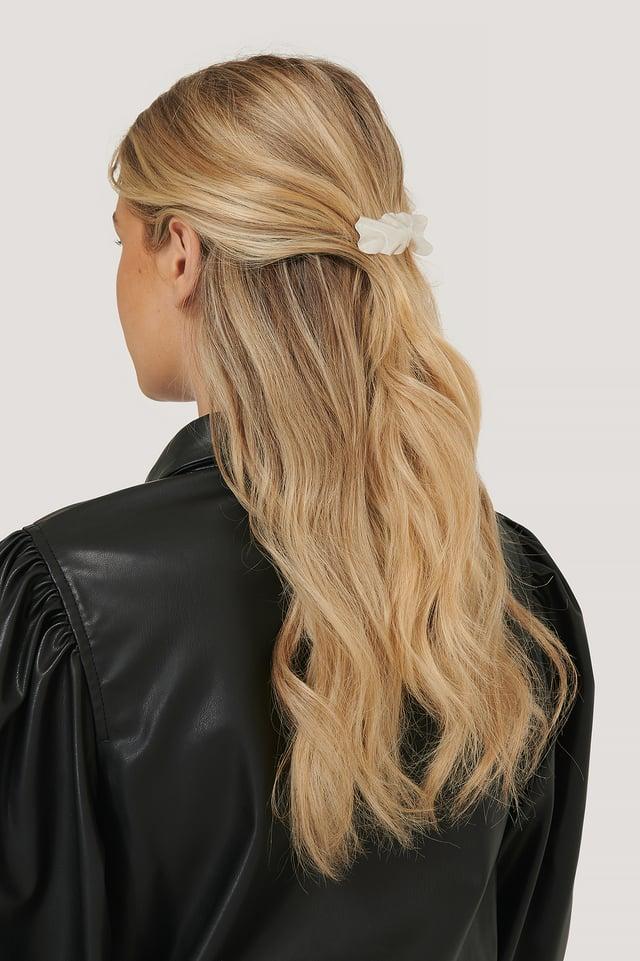 Wrinkled Matte Hairclip Silver