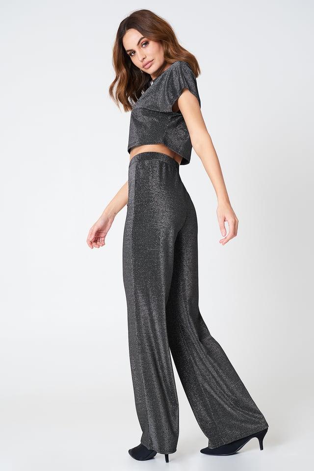 Black Glittery Pants