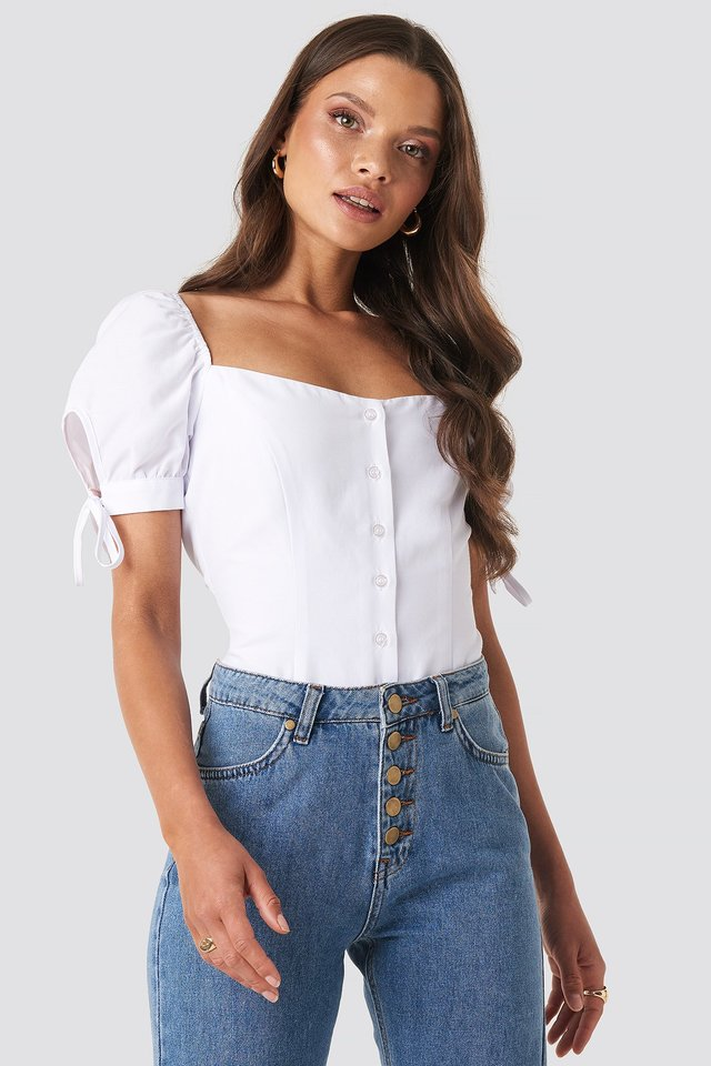 Jess Tie Sleeve Blouse XLE the Label