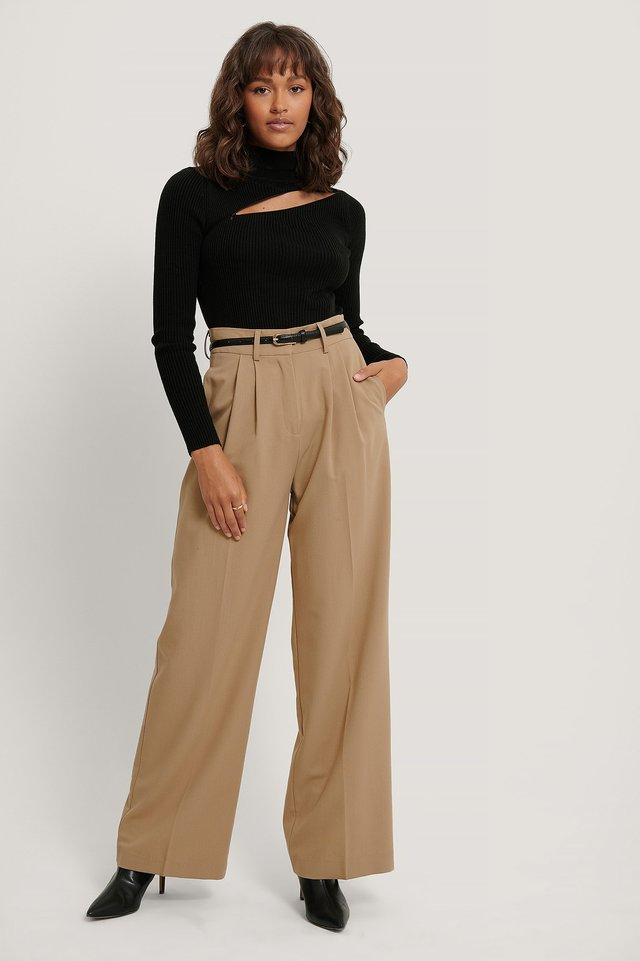 Black Zip Detail Sweater