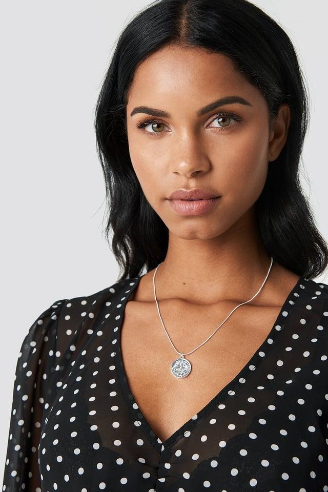 Zodiac Sagittarius Necklace Silver