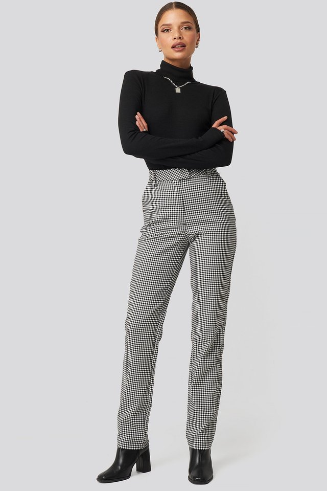 Checked Pants Black/White