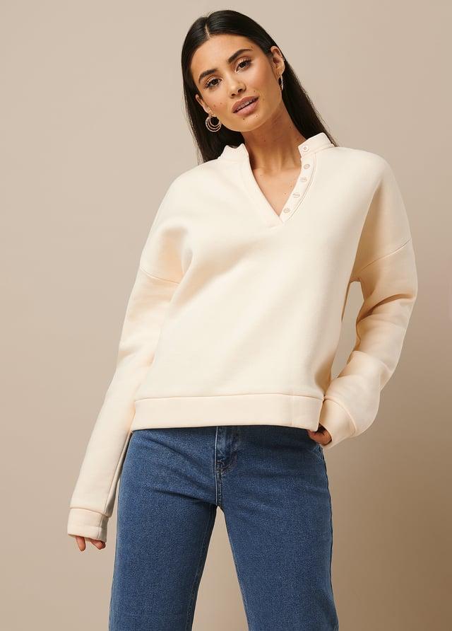 Button Sweatshirt Offwhite