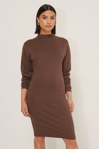 Cocoa Long Sleeve Jersey Dress
