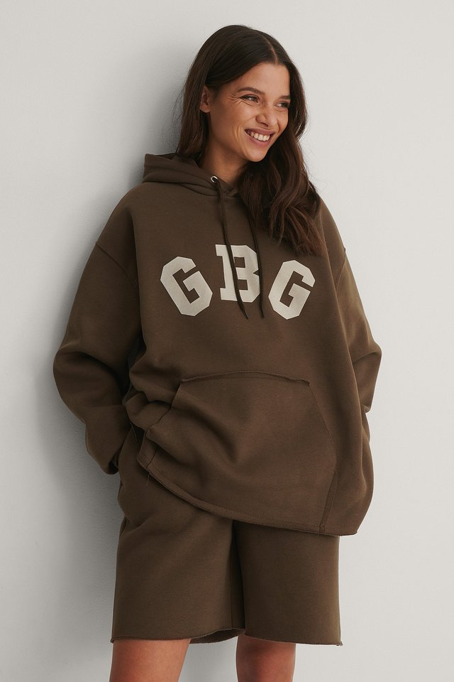 Brown Oversized NA-KD Hoodie