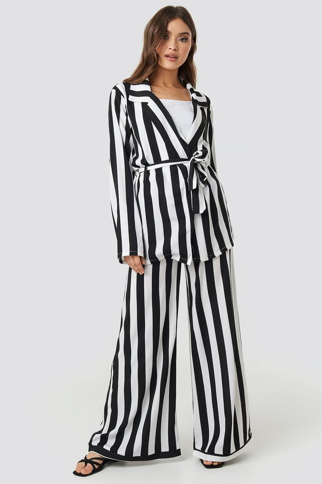 Irene Pants Black/White Stripe