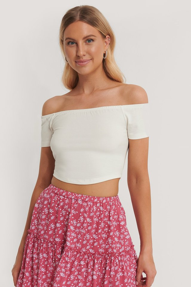 Off Shoulder Top White