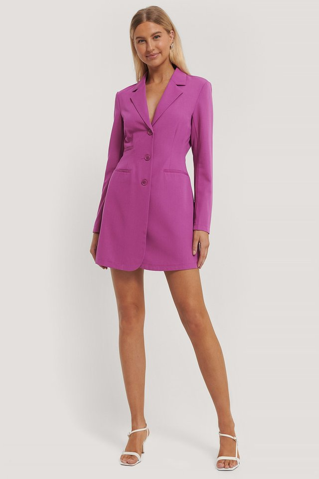 Blazer Dress Cerise