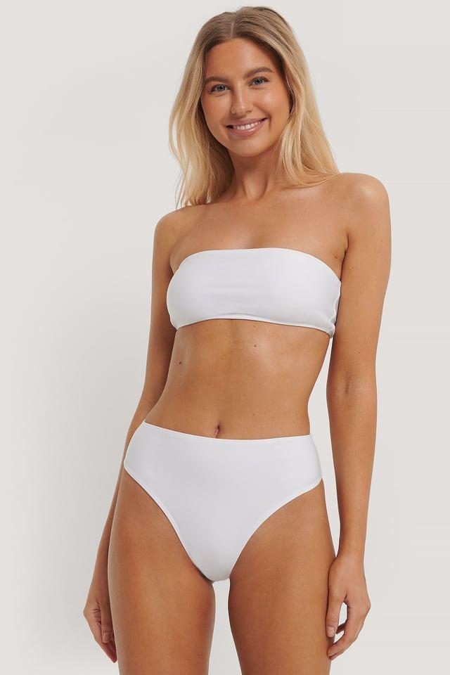 Korkeavyötäröinen Bikinialaosa White