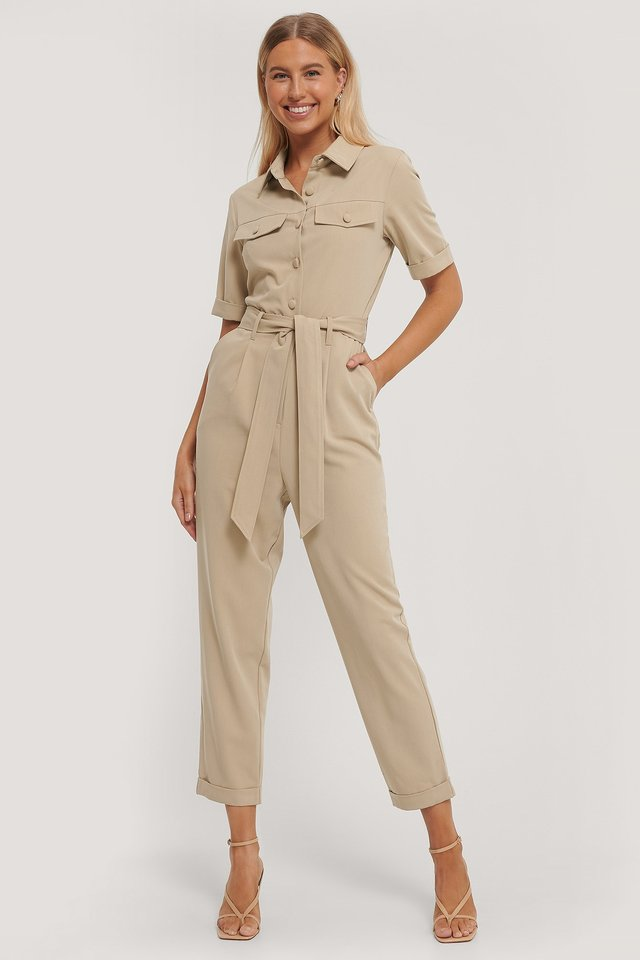 Janitor Jumpsuit Beige