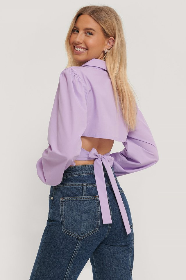 Open Back Shirt Lilac