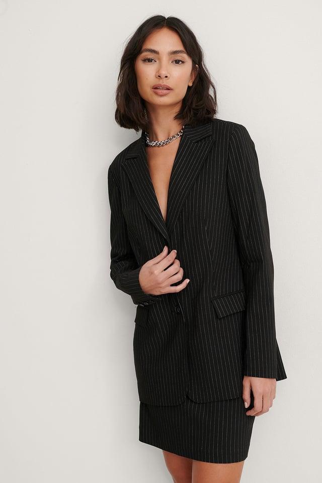Pinstripe Pinstriped Blazer