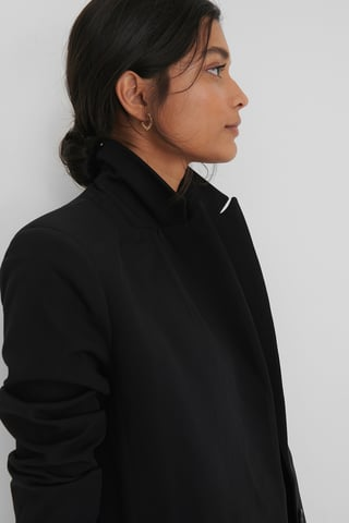 Black Pocket Detail Blazer