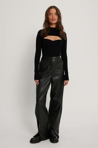 Black Pu Pants