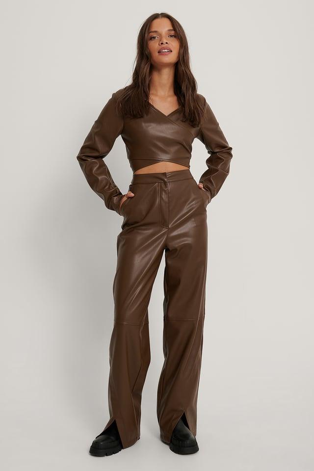 Pu Pants Chocolate
