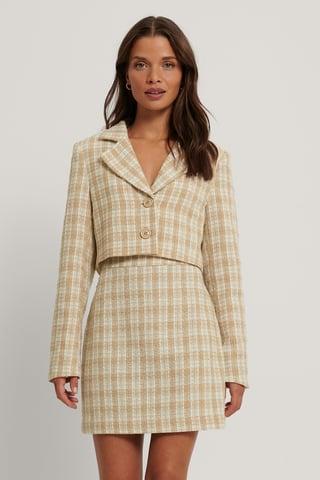 Cream Tweed Blazer