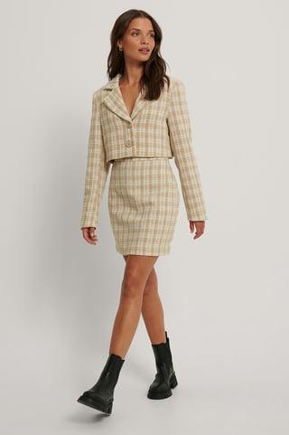 Cream Tweed Skirt