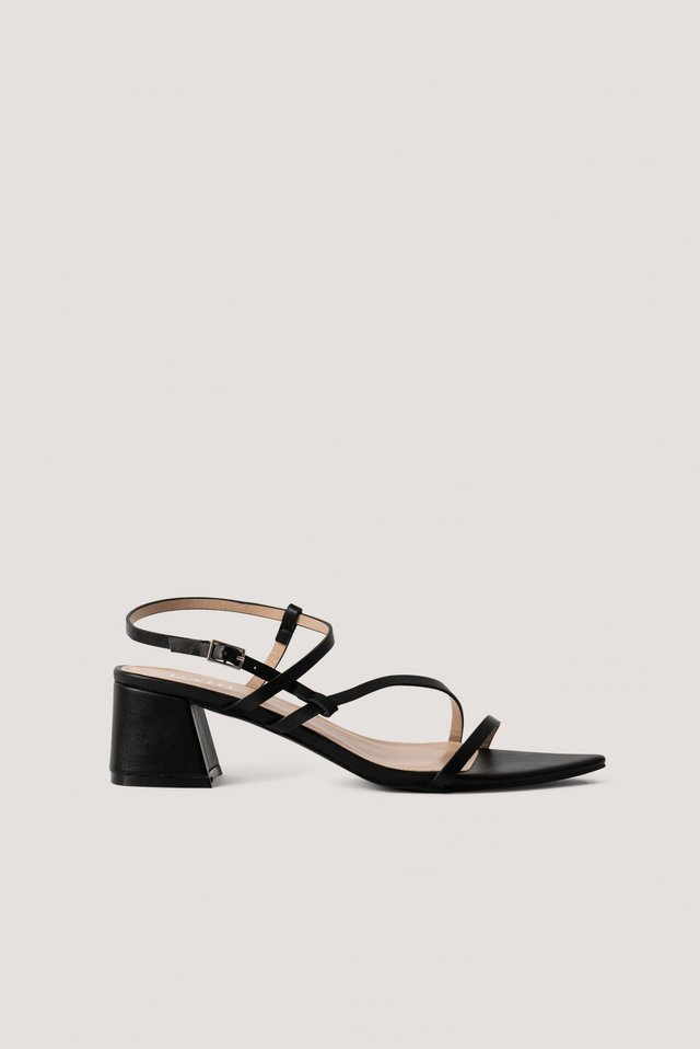 Korkeakorkoiset Sandaalit Black PU