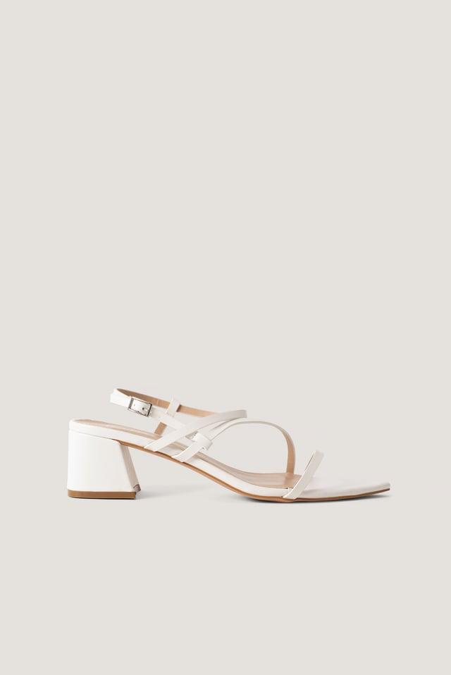 Korkeakorkoiset Sandaalit White PU