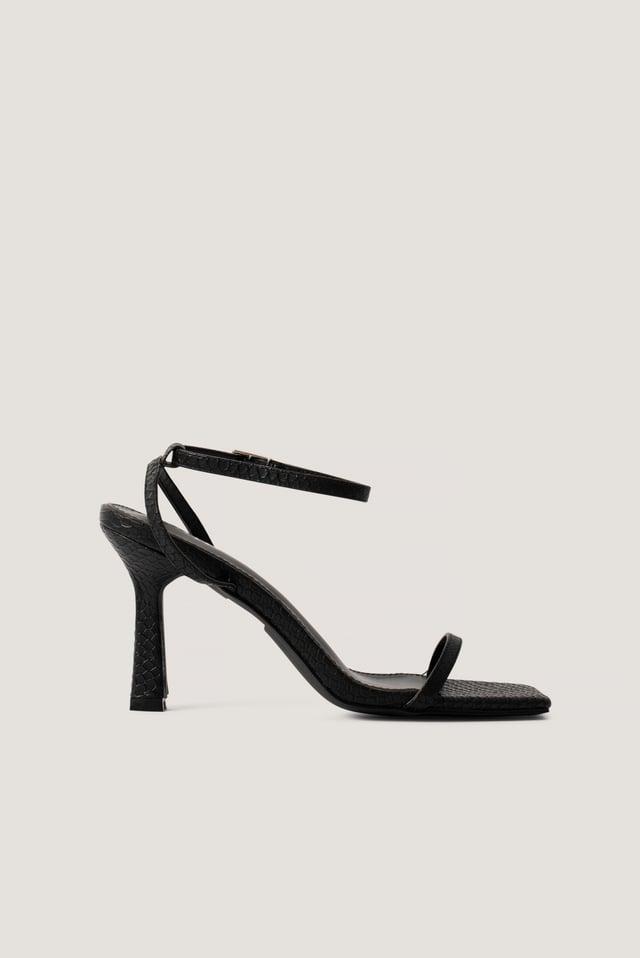 Korkeakorkoiset Sandaalit Black Snake