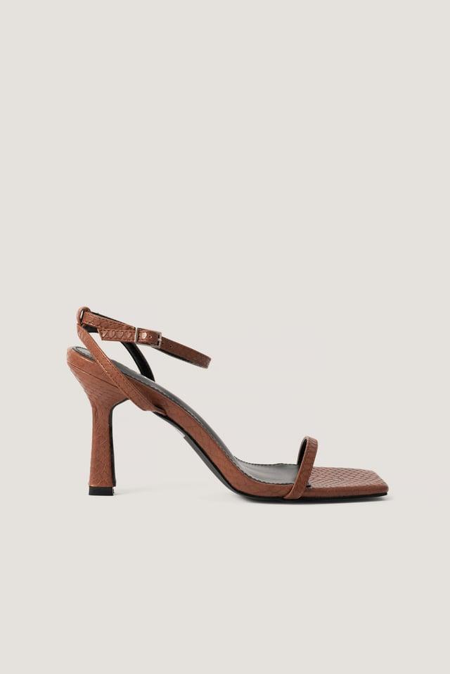 Korkeakorkoiset Sandaalit Tan Snake