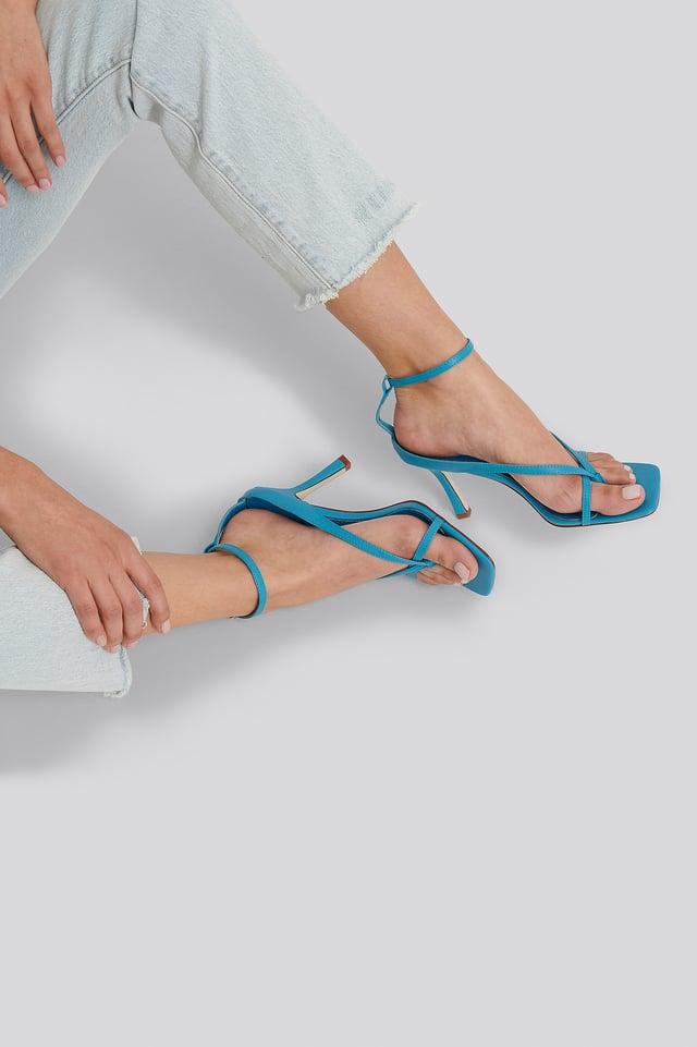 Korkeakorkoiset Sandaalit Blue