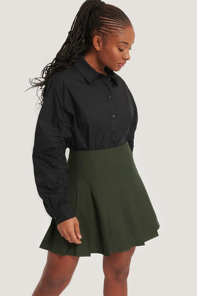 Skjorte Med Detaljer På Ermene Black